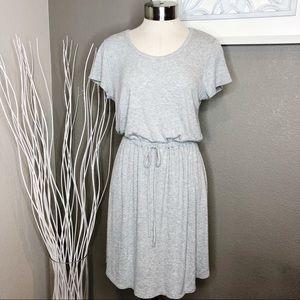 Olive and Oak Gray Drawstring Jersey Soft Dress M